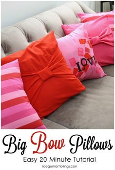 valentine pillow tutorial