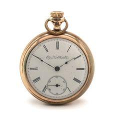 Antique Elgin Gold Filled Open Face Pocket Watch