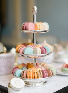 Macaron tower: http://www.stylemepretty.com/living/2015/09/30/tea-time-and-macarons-with-laduree-soho/ | Photography: Rebecca Yale - http://rebeccayalephotography.com/