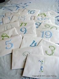 Baby Shower Activity: When guests walk in the door, give them a numbered envelope (can dually function as a door prize!).  Have each guest write down wishes/hopes/expectations for that child for that month(/year?? if month- have a board of helpful hints of typical baby progress by months) so parents can open each envelope at each month/year and read the loving notes to each other/their child