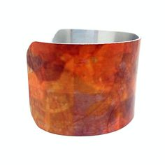 20% OFF Jewelry - Autumn Colors - Aluminum Cuff Bracelet - Change of Seasons - Digital Photographic Collage