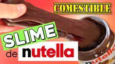 SLIME de NUTELLA COMESTIBLE! * 2 recetas con y sin nutella