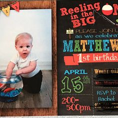 Offishally 1 birthday invitations reeling in the big one