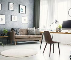 Edit Post ‹ BeachRentals.Mobi — WordPress Home Office Design, Home Office Decor, Home Decor, Office Ideas, Desk In Living Room, Living Spaces, Dining Room, Design Art Nouveau, Bright Homes