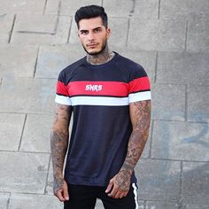 NEW DROPS - Black/Red Racer Tee 🔥more new drops landing next week also 👌🏻 Cool T Shirts, Denim Jeans, Shirt Designs, Menswear, Street Style, Mens Fashion, Krishna, Tees, Casual