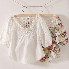 Compra las niñas blusa blanca online al por mayor de China ...