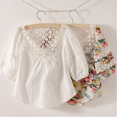 Hot Selling New 2014 Summer Baby Girls Lace Shirts & Blouses Children Floral Cotton Tops Clothing Princess Kids Tunics 2-7 Years $8.95