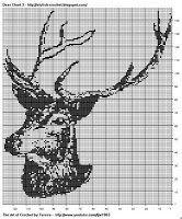 Free Filet Crochet Charts and Patterns: Filet Crochet Deer Pattern Free Chart