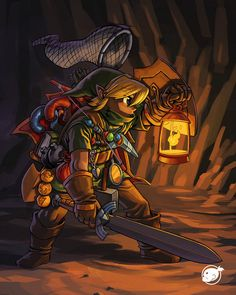 Link realistically encumbered by all of his junk.