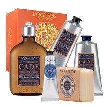 A Man's Ritual by L'Occitane. $95.00. Achieve the ideal men's skin care experience with A Man's Ritual. Experience shaving at its best with our line of Cade products, containing Organic Cade essential oil to purify and stimulate the skin, as well as Shea Butter and Bisabolol to protect and moisturize. Plus, nourish the hands and body with Shea Butter Hand Cream and Milk Soap.- Cade After Shave Balm 2.5 fl. oz- Cade Shaving Cream 5.2 oz- Cade Reinvigorating Shower Gel 8.4 fl....