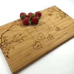 Cutting Board Personalized Wedding Gift Blended Family Names Bunting Love Birds Name Laser Engraved Cutting Board Wedding Anniversary Gift