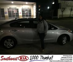 https://flic.kr/p/CVB3Qh | Congratulations Leah on your #Kia #Forte from Angela Williams at Southwest Kia Mesquite! | deliverymaxx.com/DealerReviews.aspx?DealerCode=VNDX
