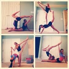 Ideas For Yoga Poses Pictures Fun Acro Yoga Poses, Acro Dance, Partner Yoga Poses, Dance Poses, Pole Dance, Gymnastics Stunts, Gymnastics Workout, Cheer Stunts, Cheerleading