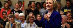 Democratic presidential candidate Hillary Clinton at a campaign event in Iowa City, Iowa. (Jim Young/Reuters)