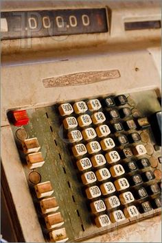 spent many hours playing store with a cash register similar to this