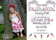 July 4th Birthday Invitation V2 Printable By: Simply Sprinkled
