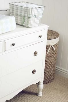 make your own changing table out of an old dresser.