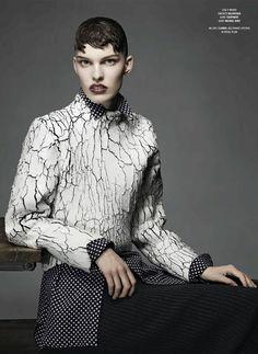 "V#85 Fall 2013 ""New Models Outstanding Outerwear"" Photographer: Anthony Maule Model: Lisa Verberght Styling: Jay Massacret Hair: Tamara McNaughton Make-Up: Alice Lane"