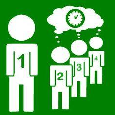 Pictogram Beurt wachten groen