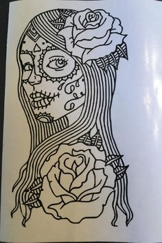 Decal Day of the dead girl, Day of the dead, Dia de los muertos, Decal by LaMiquiztli on Etsy