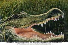 Amorous Alligator Painting