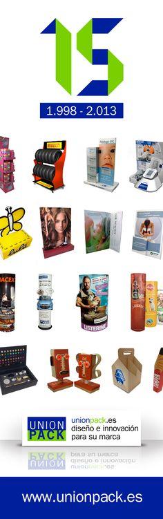 Unión Pack celebra su 15º Aniversario en diseño y fabricación de packaging y P.L.V.