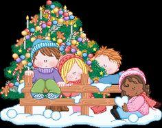 Niños en navidad para imprimir