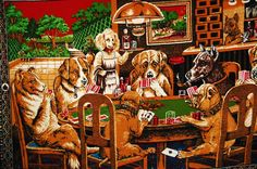 Dogs playing Poker wall tapestry. So much 70's! Grew up with this front & center in my living room...