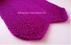 Узор спицами ВОЛНЫ  knitting pattern