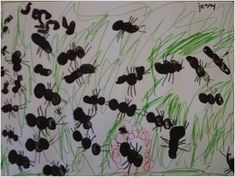 de m van mier Ant Crafts, Insect Crafts, Forest School Activities, Activities For Kids, Diy For Kids, Crafts For Kids, Spring Art Projects, Kindergarten Crafts, Toddler Fun