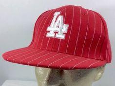Los Angeles Dodgers MLB Trucker Baseball Cap Hat Red 7 1/2 L.I.N. 100% Acrylic #LIN #LosAngelesDodgers