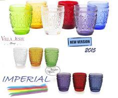 OFFERTA SPECIALE! Set 6 Bicchieri acqua Imperial vetro colorato by VILLA D ESTE