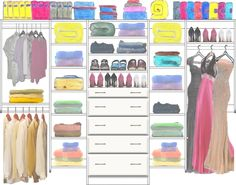 Adult Closet Design 6 made with the CCDS FREE On-Line Image Design system