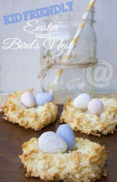 Easy Easter Birds Nest Dessert - Kid Friendly Recipe