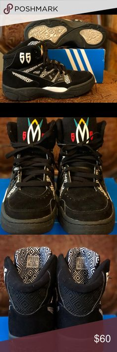 Adidas Mutombo Black   White Size9 With T-Shirt Adidas Mutombo Black    White Size9 6ef0ade662
