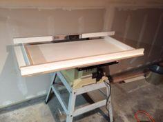 First concrete coffee table  oak legs