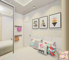 | QUARTO DA JOVEM | Projeto Clean para uma jovem que AMA branco. Por: Tamires Fernandes Arquitetura e Interiores