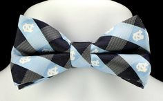 North Carolina Tarheels Plaid Bow Tie | Ties Just For You