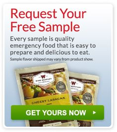 Request a free survival food s&le from Wise Food Storage today u0026 see why we have the best quality ratings in the industry.  sc 1 st  Pinterest & Wise Food Storage - Emergency Long Term and Camping Meals | BEWise ...