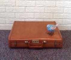 vintage mens briefcase attache case mid century by gillardgurl
