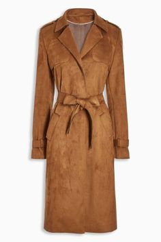 Buy Tan Suedette Trench online today at Next: United States of America