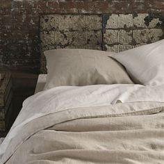 Biella Ecru & Pebble Bed Linen | Designers Guild
