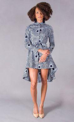 Demestiks, The New York-based line is full of feminine silhouettes—wrap dresses, floor-sweeping skirts and peplum tops—. African Dresses For Women, African Print Dresses, African Attire, African Wear, African Women, African Prints, African Style, African Inspired Fashion, African Print Fashion