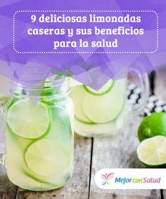 9 deliciosas #limonadas caseras y sus beneficios para la #salud Al combinar las propiedades del limón con las de otros ingredientes #medicinales podemos obtener diferentes limonadas naturales con múltiples beneficios para nuestra salud y así evitar los refrescos comerciales #Recetas