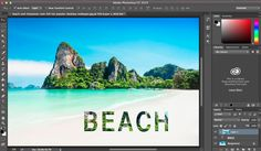 Combine Text and images in Photoshop