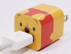 Disney Apple iPhone Power Adapter Skin Sticker Decoration Wrap - Sticker Only Not Include USB (Winnie the Pooh) Winne The Pooh, Winnie The Pooh Friends, Disney Winnie The Pooh, Iphone Charger, Iphone Cases, Tsumtsum, Usb, Disney Home, Disney Art