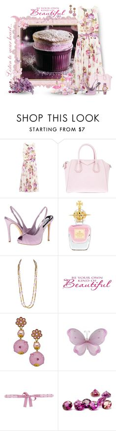 """Raspberry Souffle"" by lisa-arnold-holden ❤ liked on Polyvore featuring Giambattista Valli, Givenchy, rsvp, Vivienne Westwood, L'Oréal Paris, Chanel, Versace and Dahlia"