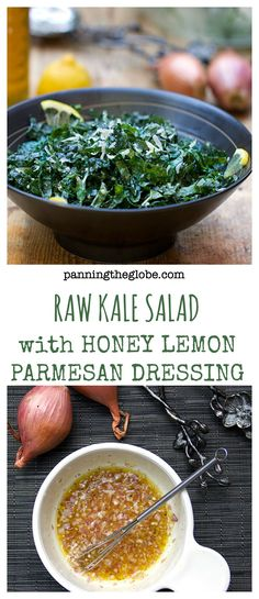 Raw Kale Salad recipe adapted from Weight Watchers - amazingly delicious and healthy!