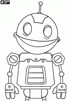 Rob The Robot Coloring Pages Craft Ideas Pinterest Robot