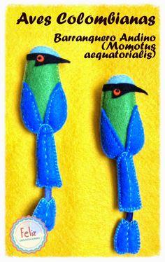 Feliz: Colección Aves colombianas Birds, Felt, Colombia